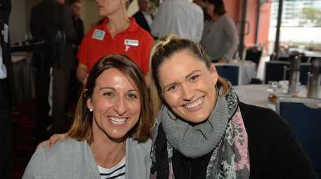 Marayke with Hayley Lewis in 2015.