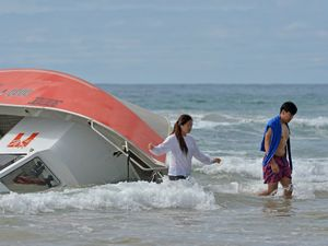 Six rescued from boat after it capsizes off Coast beach