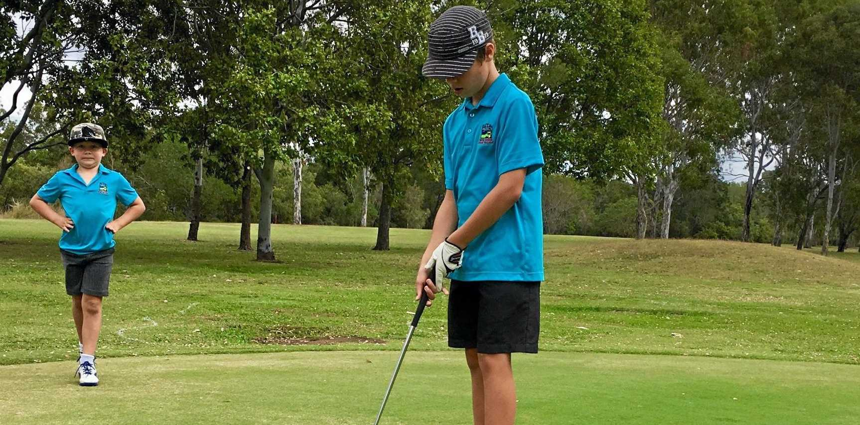 Tyler Grice was a strong competitor in Sunday's junior golf open