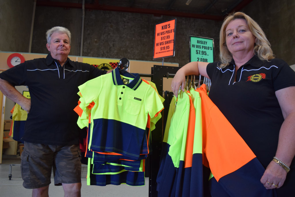 Chris and Kay Halford, owners and managers of Tuffstuff Discount Workwear and Embroidery in Urraween.