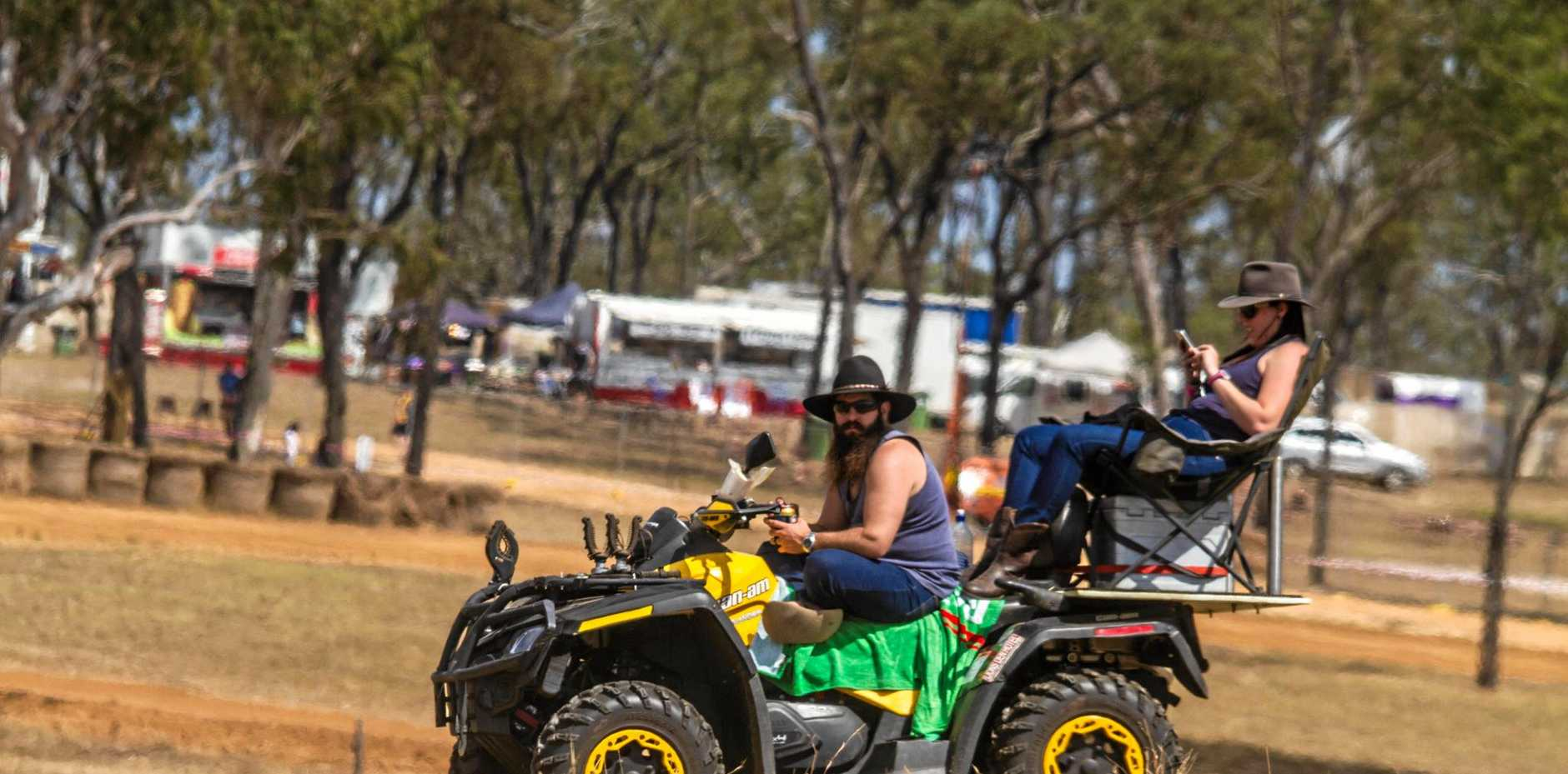 Beer... check. Esky... check. Four wheeler... check. Sunnies... check. Is this the most Aussie photo you have ever seen?