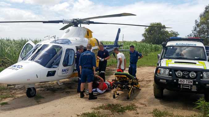 RESCUE: Kristina Austerberry waited more than two hours, trapped on the beach impaled on a branch, before she was rescued.