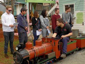 Toowoomba trainees build train tracks with new skills