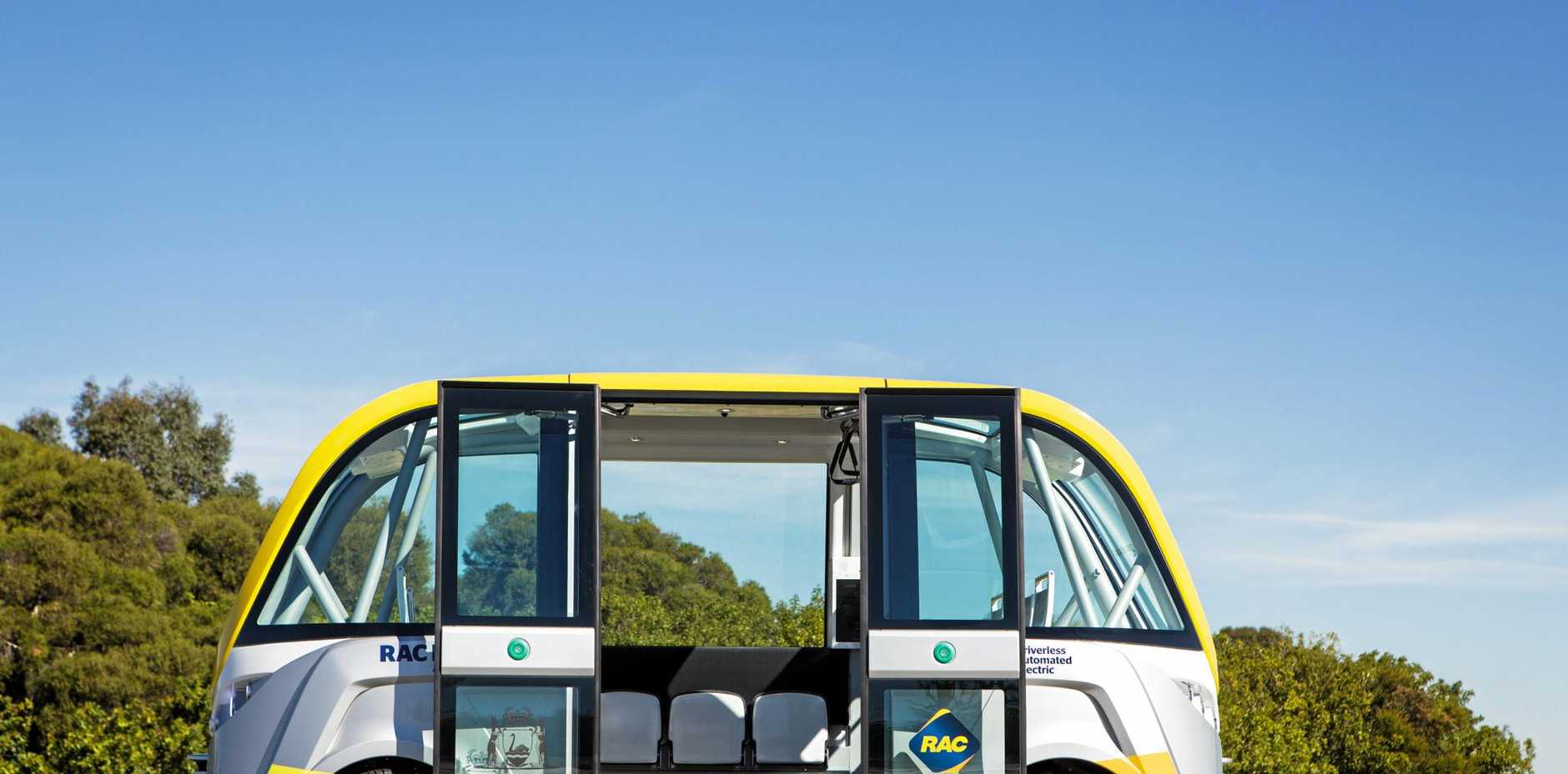 DRIVER-FREE: The RAC Intellibus is an electric, driverless bus being tested in Perth, WA.