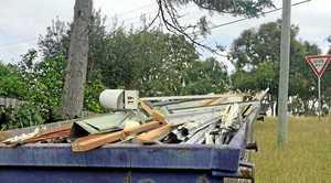 The mailbox found in a skip bin in Cooee Bay