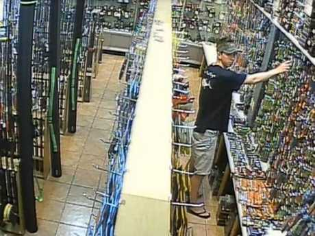CAUGHT: Cameras capture man pocketing a $21 fishing lure.
