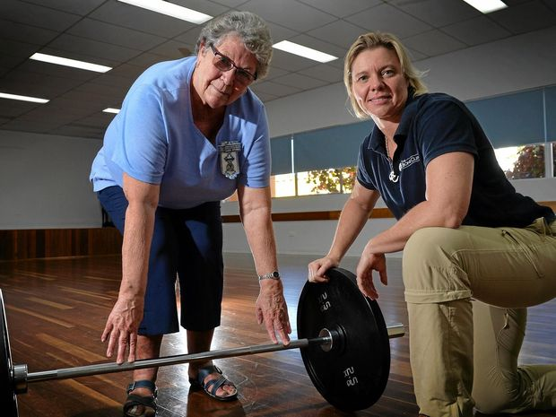 EXPERT ADVICE: Clinic co-director Lisa Weis will be opening a new bone clinic on the Sunshine Coast to help those with osteoporosis such as (left) Alison Mitchell.