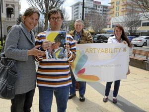 Colourful works of art transform city street