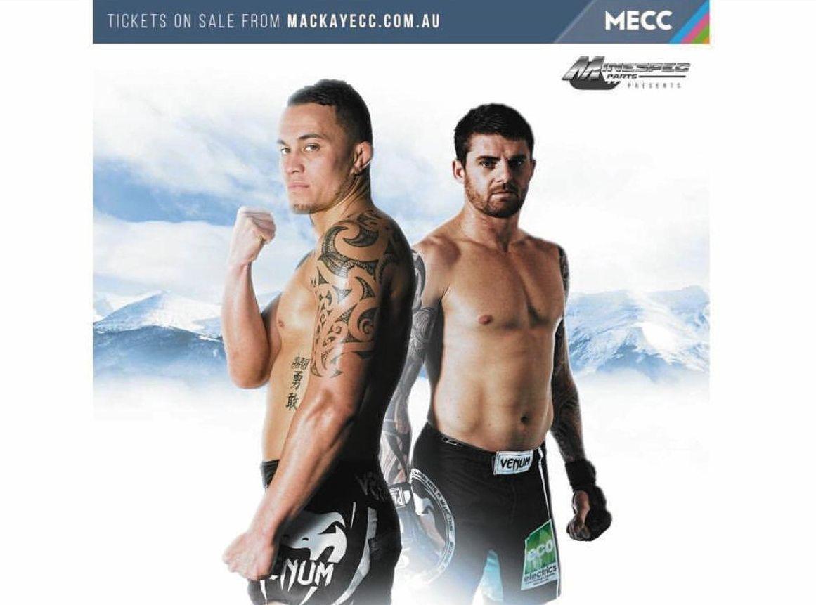 Australia's Brentin Mumford (right) will face New Zealand's Kieran Joblin for the CITC lightweight title this Saturday night.