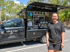 Nicole Jenkins with her mobile business coffee van, Coffee Delight, that she opened after being made redundant at her last job.