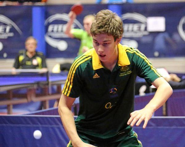 Paralympic table tennis silver medallist Sam von Einem, of Australia.