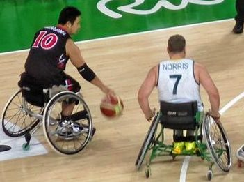 The Rollers in action against Japan.