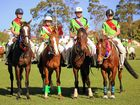 RIDING HIGH: Georgia Everson, Harrison Lee, Ben Ensby and Makayla Jesser claimed the award for the top four highest points scoring riders at the Murwillumbah Pony Club Jamboree.