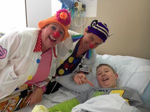 Clowning about in hospital is on the Wishlist