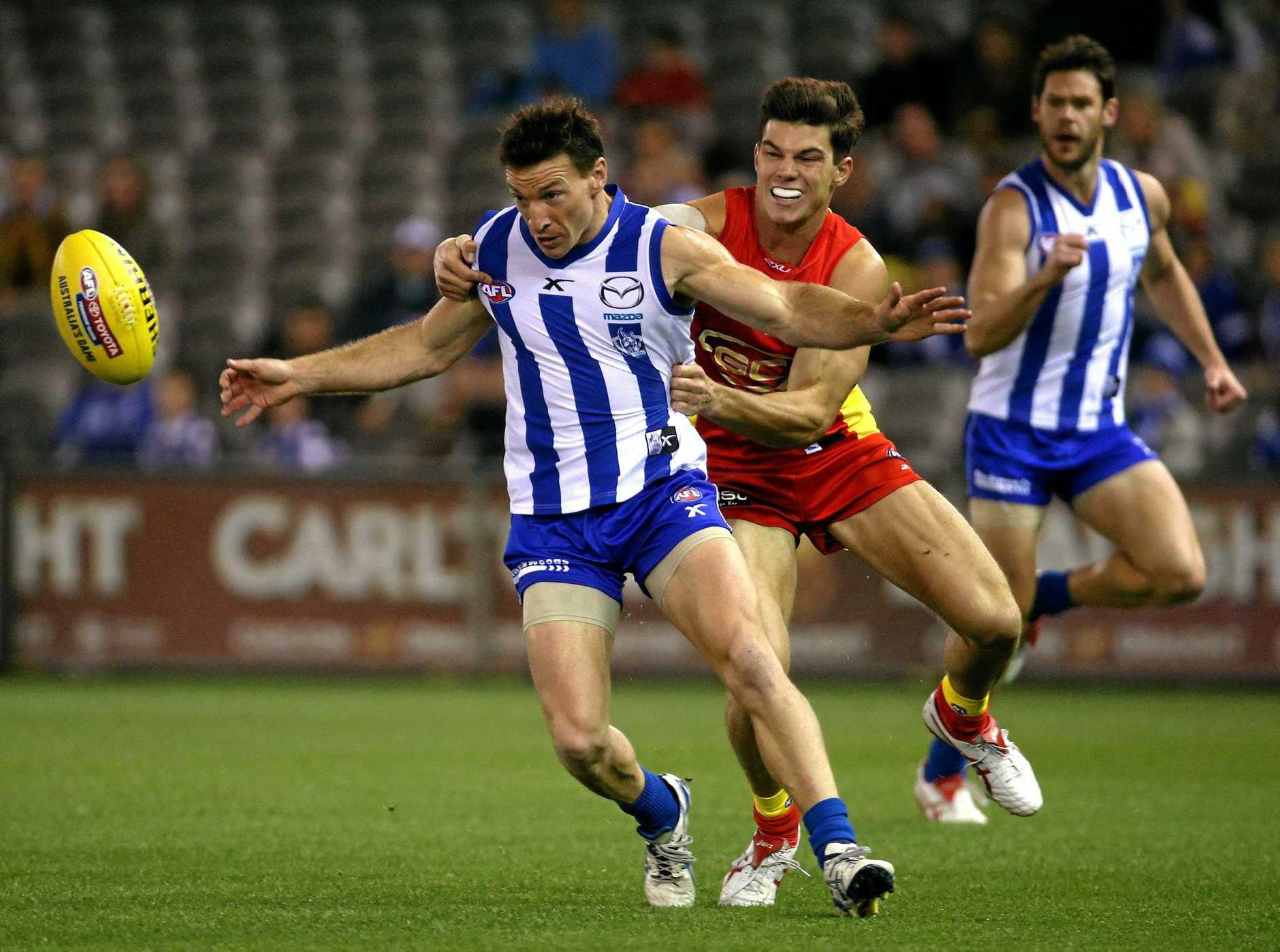 Jaeger O'Meara (right) has requested a trade to Hawthorn.
