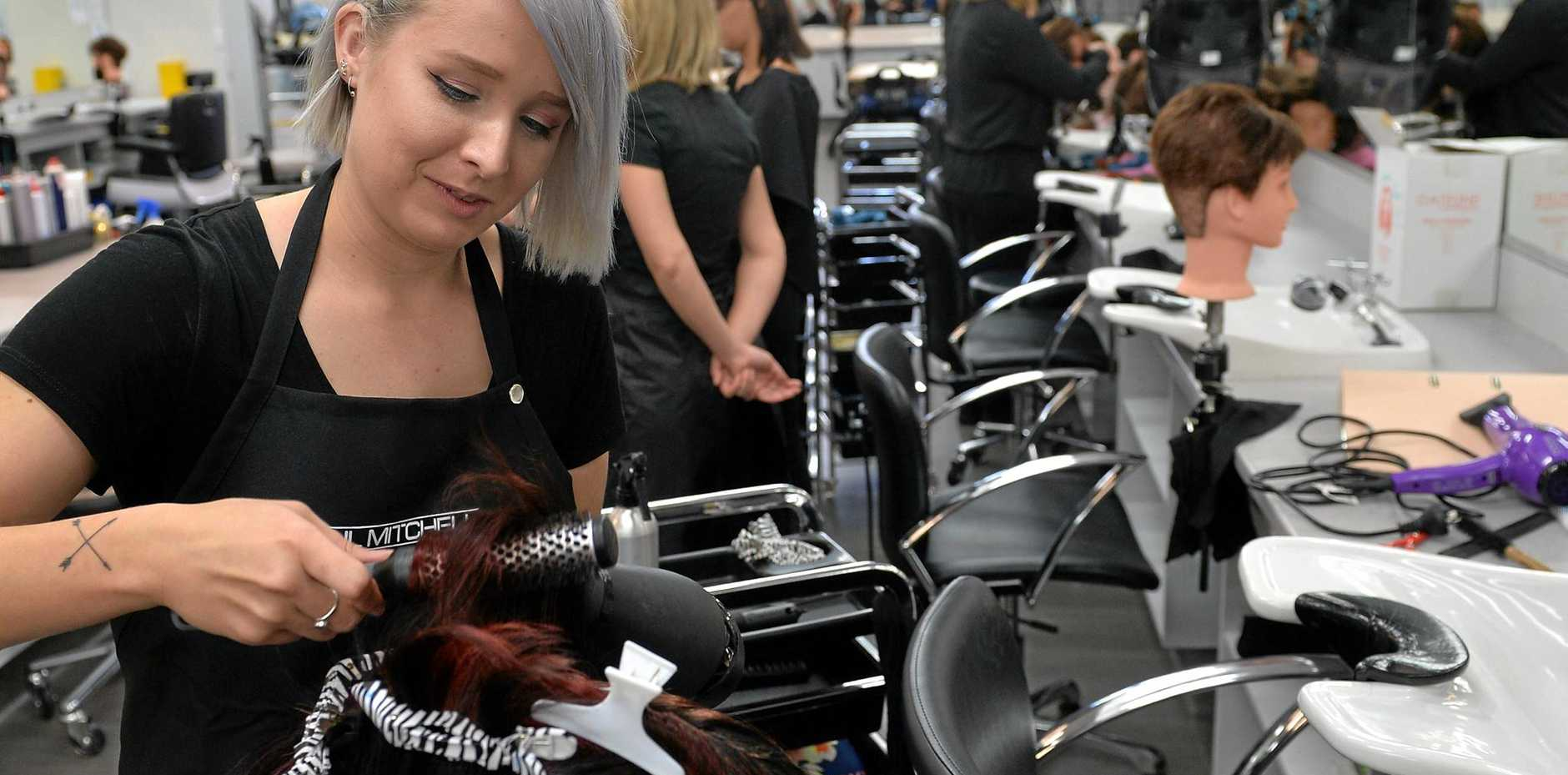 Sunshine Coast TAFE underwent a $600,000 upgrade to improve hairdressing salons.