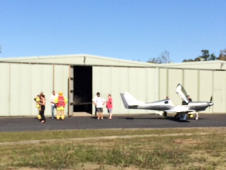 Fire crews were caled out as the pilot of this plane set up to crash land this afternoon.