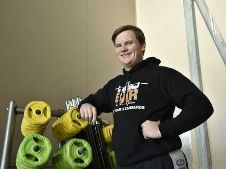 ENJOY THE TRAINING: The owner of The Bar Personal Training & fitness Centre, Lochlan Wagner, encourages people to put in the work and enjoy the process of getting fit.
