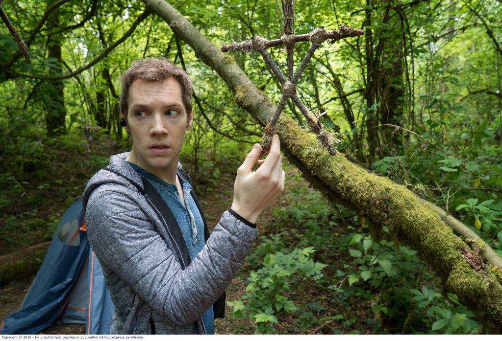 James Allen McCune in a scene from the movie Blair Witch.