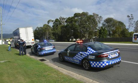 Toowoomba Road Policing Unit Sergeant Kane Hardgrave joins other officers in a major police operation targeting driving behaviour and the Fatal Five around the region.