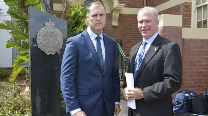 Launching Project Drift to target weapons theft are Acting Detective Inspector Tony Parsons from the Organised Crime Unit and Regional Crime Coordinator Detective Superintendent Brian Swan.