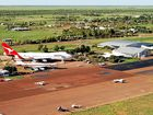 Aerial view of the Qantas Founders Museum at Longreach, Queensland.