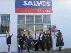 Salvos celebrate bigger shop space out west