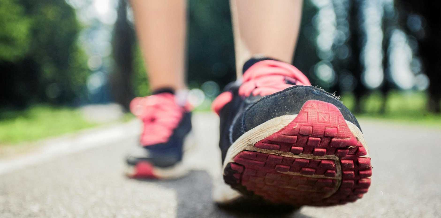 BEST FOOT FORWARD: A study has shown a direct correlation between active walkers and a reduced mortality rate.