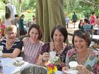 Cecilia Prout, Ruth Siganto, Marcia Greene and Fiona Clerc at the Rockhampton South Kindergarten High Tea.
