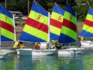 Three-way tie in the junior fleet