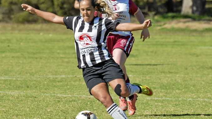 BIG PERFORMANCE: Jessica Fry scored twice in the grand-final for Willowburn on Sunday in front of intrigued officials from the NPL's South-West Thunder.