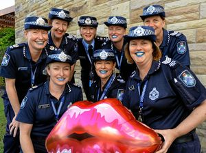 Why these cops are wearing lipstick