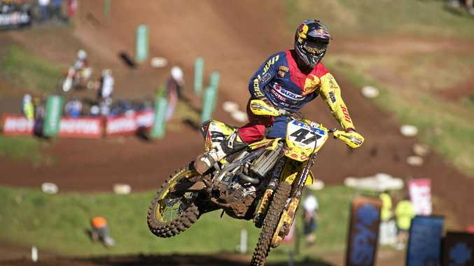 ON TRACK: Todd Waters competes in the MX1 class at Toowoomba's MX Nationals round on August 21.
