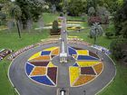 STUNNING SHOW OF COLOUR: The Chronicle photographer Bev Lacey has taken an aerial shot over Queens Park Botanic Gardens to capture the colourful designs for the Toowoomba Carnival of Flowers.