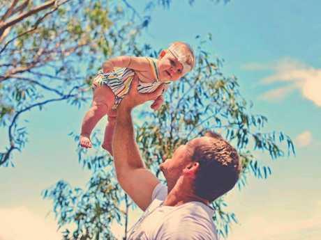Dan Bates with daughter, Bella, 1.