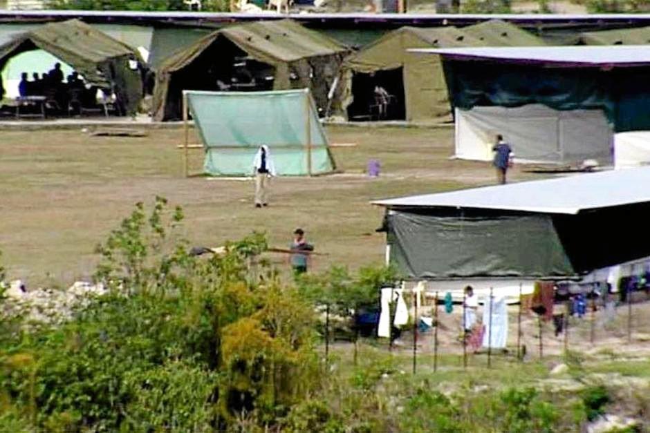 The Nauru camp set up for asylum seekers.