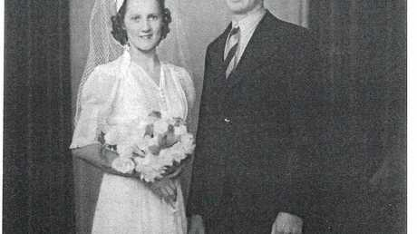 WEDDING BELLS: George Cottom and his wife Dot were married the day before the attack on Pearl Harbour in the Second World War.