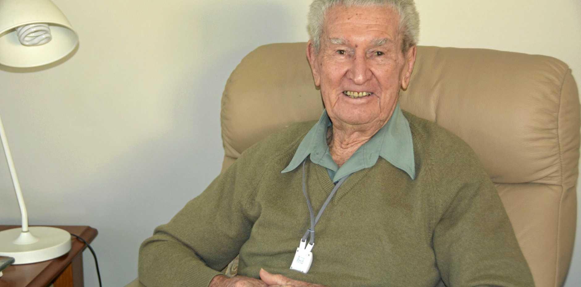 HAPPY BIRTHDAY: George Cottom turned 100 on September 2, 2016.