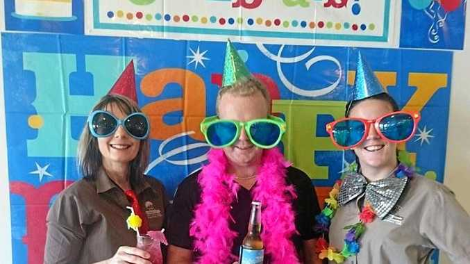 DRESS UPS: The Tannum Sands Surf Club, Bar and Bistro celebrated its 21st birthday on Sunday.