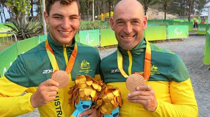 Rio bronze medallists David Edwards (left) and Kieran Modra.