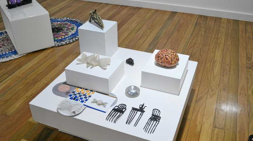 TACTILE DISPLAY: The Blue Suitcase exhibit is on display now at Gallery 107.