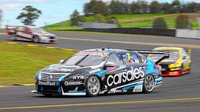 ON TRACK: Matt Campbell gets in some practice in the Nissan Motorsport Altima V8 Supercars entry at Sydney Motorsport Park.