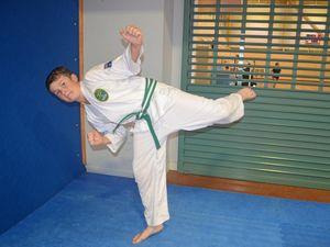 Karate kid George chops competition