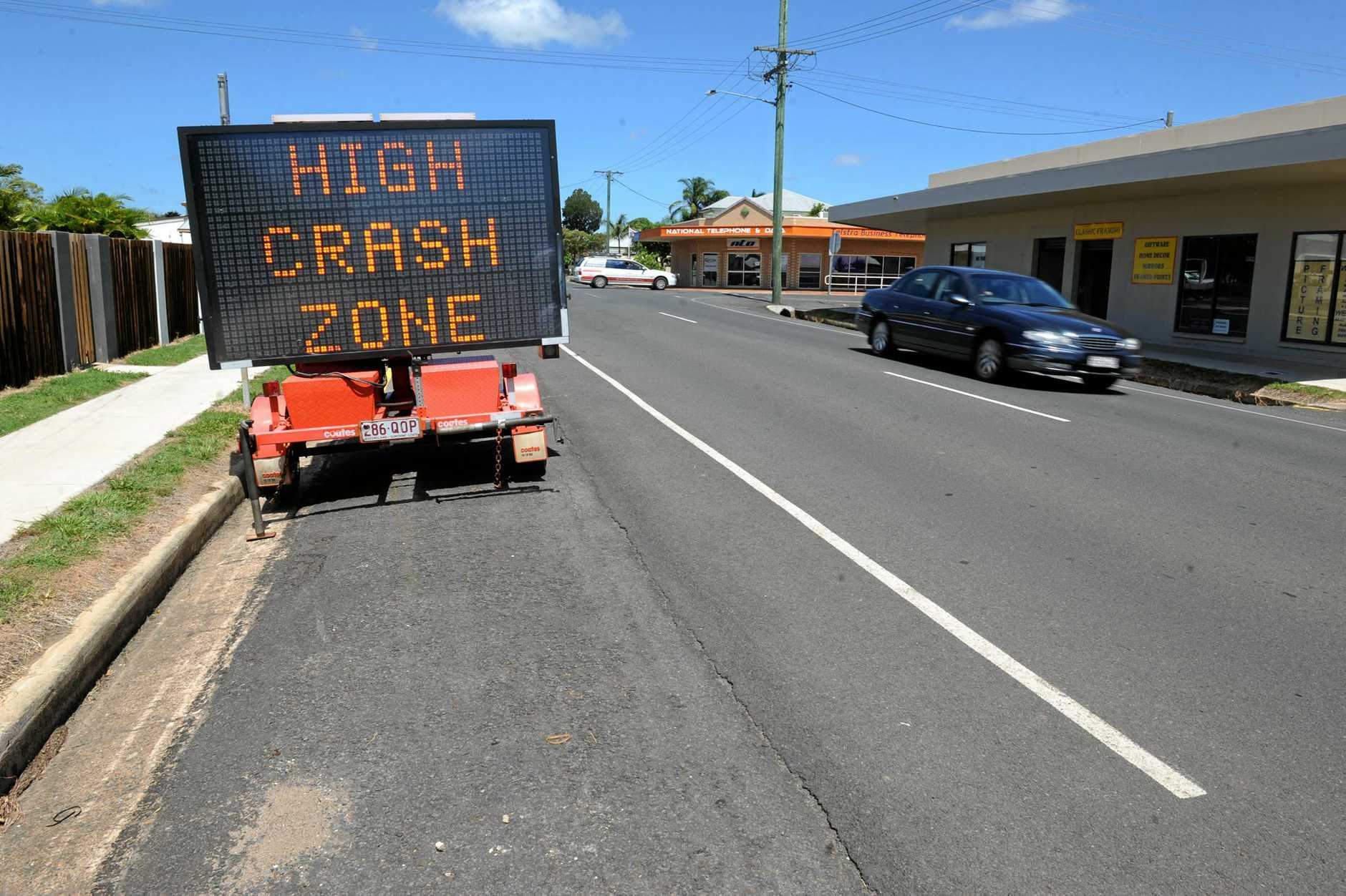 HIGH CRASH ZONE: The intersection of Targo and Burnett Street has an abnormally high number of car crashes. Photo: Mike Knott / NewsMail