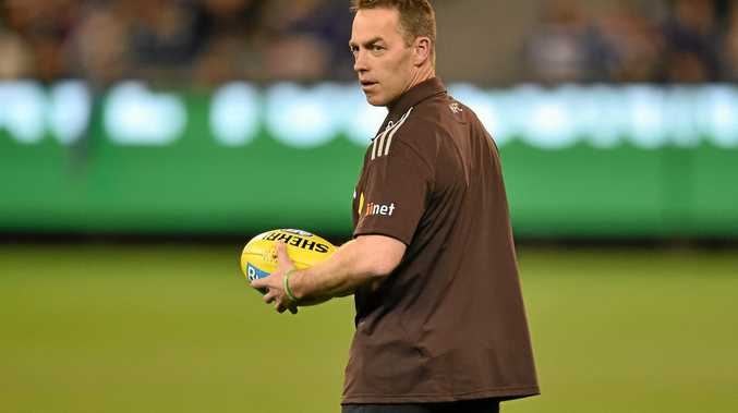 Hawks coach Alastair Clarkson before the AFL qualifying final against the Cats last weekend.