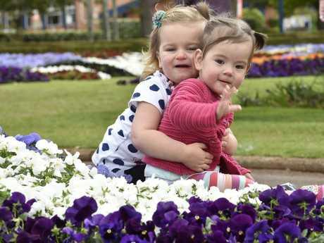 Enjoying beautiful Laurel Bank Park are Imogen Mazzetti (left) and Heidi Macfarlane.