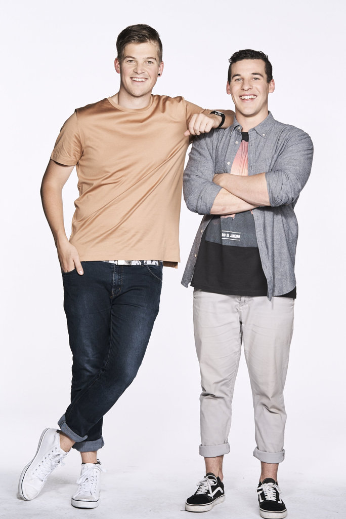 Ben Toyne (left) and Andy Sutherland from Channel 9's The Block. Photo: Contributed