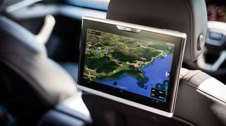 Optional rear screen in Audi A4 Allroad