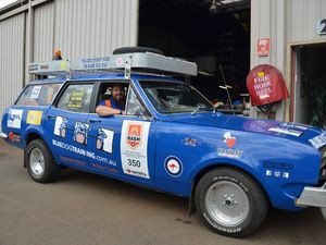 Variety Bash HK wagon with 350 Chev