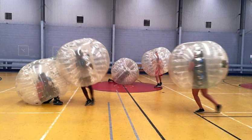 PCYC FUN NIGHT: Test your skills at bubble soccer.